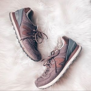 New Balances Rose Gold Purple Running Shoes 8